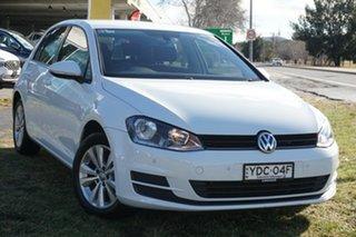 2014 Volkswagen Golf VII MY14 90TSI DSG Comfortline White 7 Speed Sports Automatic Dual Clutch.