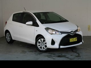 2016 Toyota Yaris NCP130R MY15 Ascent Glacier White 4 Speed Automatic Hatchback.