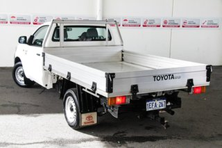 2013 Toyota Hilux TGN16R MY12 Workmate Glacier White 5 Speed Manual Cab Chassis