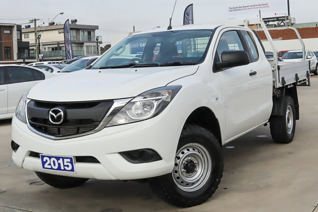 Used Mazda BT-50 UR0YF1 XT Freestyle 4x2 Hi-Rider Coburg North, 2015 Mazda BT-50 UR0YF1 XT Freestyle 4x2 Hi-Rider White 6 Speed Sports Automatic Cab Chassis