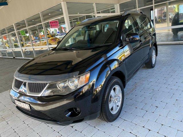 Used Mitsubishi Outlander LS Taree, 2008 Mitsubishi Outlander LS Black Constant Variable Wagon