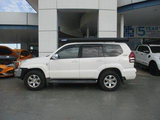 2008 Toyota Landcruiser Prado KDJ120R 07 Upgrade GXL (4x4) White 5 Speed Automatic Wagon.