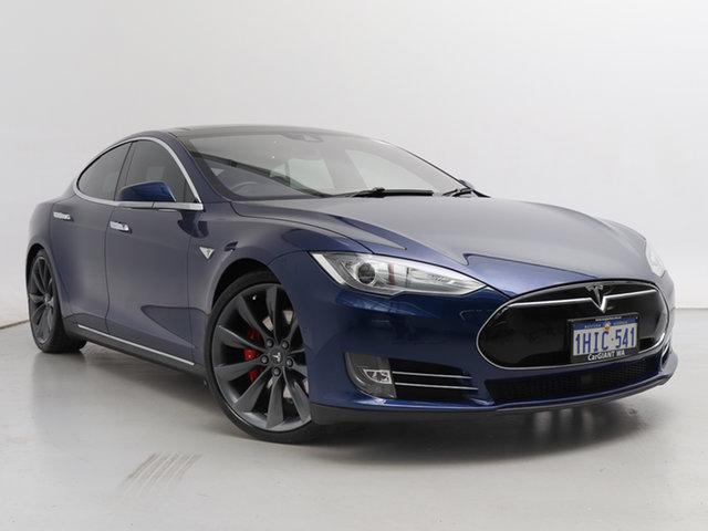 Used Tesla Model S  P85D, 2015 Tesla Model S P85D Blue 1 Speed Automatic Hatchback