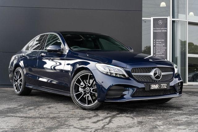 Demonstrator Mercedes-Benz C-Class W205 801MY C300 9G-Tronic Mulgrave, 2021 Mercedes-Benz C-Class W205 801MY C300 9G-Tronic Cavansite Blue 9 Speed Sports Automatic Sedan