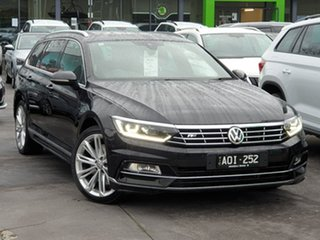 2017 Volkswagen Passat 3C (B8) MY17 206TSI DSG 4MOTION R-Line Black 6 Speed.