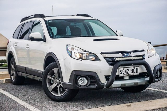 Used Subaru Outback B5A MY14 2.0D Lineartronic AWD Christies Beach, 2014 Subaru Outback B5A MY14 2.0D Lineartronic AWD White 7 Speed Constant Variable Wagon