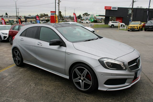 Used Mercedes-Benz A-Class W176 805+055MY A250 D-CT Sport Ferntree Gully, 2015 Mercedes-Benz A-Class W176 805+055MY A250 D-CT Sport Billet Silver 7 Speed