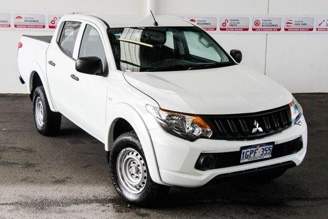 Pre-Owned Mitsubishi Triton MR MY19 GLX (4x4) Rockingham, 2018 Mitsubishi Triton MR MY19 GLX (4x4) White 6 Speed Automatic Cab Chassis