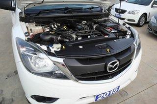 2015 Mazda BT-50 UR0YF1 XT Freestyle 4x2 Hi-Rider White 6 Speed Sports Automatic Cab Chassis