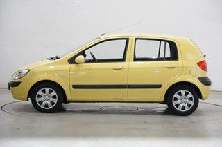 2008 Hyundai Getz TB MY07 SX Sheer Yellow 5 Speed Manual Hatchback.