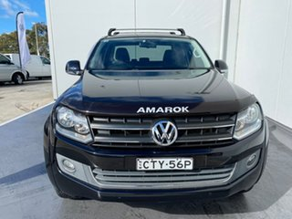 2014 Volkswagen Amarok 2H MY14 TDI420 4Motion Perm Highline Black 8 Speed Automatic Utility.