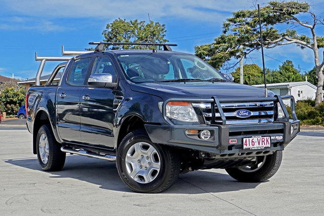 Used Ford Ranger PX XLT Double Cab Capalaba, 2015 Ford Ranger PX XLT Double Cab Metropolitan Grey 6 Speed Manual Utility