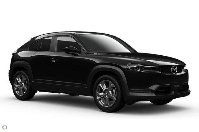 New Mazda MX-30 DR2W7A G20e SKYACTIV-Drive Evolve Waitara, 2021 Mazda MX-30 DR2W7A G20e SKYACTIV-Drive Evolve Black 6 Speed Sports Automatic Wagon