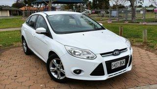 2014 Ford Focus LW MkII Trend PwrShift White 6 Speed Sports Automatic Dual Clutch Sedan.