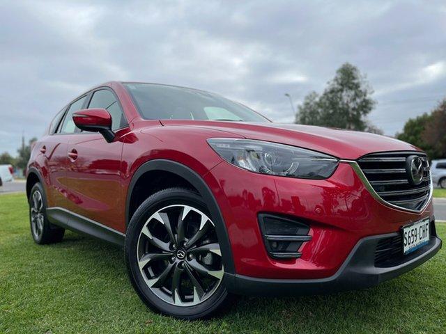 Used Mazda CX-5 KE1022 Akera SKYACTIV-Drive AWD Hindmarsh, 2015 Mazda CX-5 KE1022 Akera SKYACTIV-Drive AWD Red 6 Speed Sports Automatic Wagon