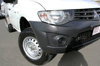 2013 Mitsubishi Triton MN MY13 GL 4x2 White Solid 5 Speed Manual Cab Chassis.