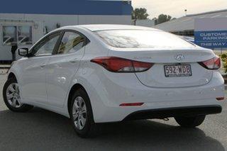 2015 Hyundai Elantra MD3 Active Polar White 6 Speed Manual Sedan.