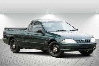 2002 Ford Falcon AU III XL Ute Super Cab Aintree Green 4 Speed Automatic Utility.