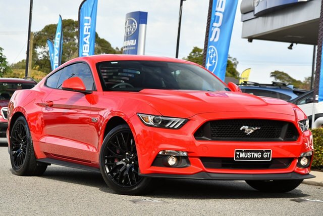 Used Ford Mustang FM 2017MY GT Fastback SelectShift Melville, 2017 Ford Mustang FM 2017MY GT Fastback SelectShift Red 6 Speed Sports Automatic Fastback
