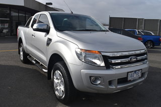 2013 Ford Ranger PX XLT Super Cab 4x2 Hi-Rider Silver 6 Speed Sports Automatic Utility.
