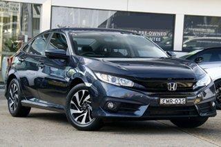 2018 Honda Civic 10th Gen MY18 VTi-S Luxe Blue 1 Speed Constant Variable Sedan.
