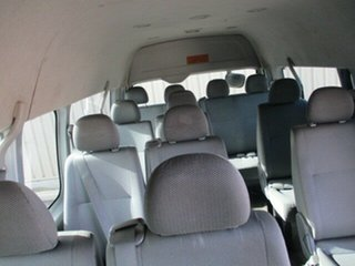 2005 Toyota HiAce KDH222R Commuter High Roof Super LWB Silver 5 Speed Manual Bus