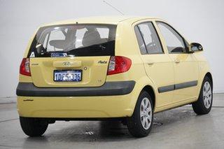2008 Hyundai Getz TB MY07 SX Sheer Yellow 5 Speed Manual Hatchback