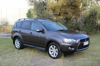 2012 Mitsubishi Outlander ZH MY12 XLS Brown 6 Speed Constant Variable Wagon.