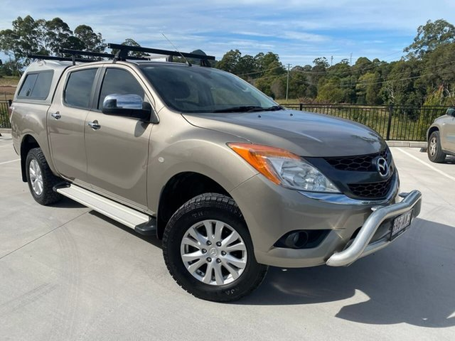 Used Mazda BT-50 UP0YF1 GT Cooroy, 2013 Mazda BT-50 UP0YF1 GT Gold 6 Speed Sports Automatic Utility