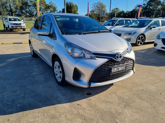 Used Toyota Yaris NCP130R Ascent Glendale, 2016 Toyota Yaris NCP130R Ascent Silver 5 Speed Manual Hatchback