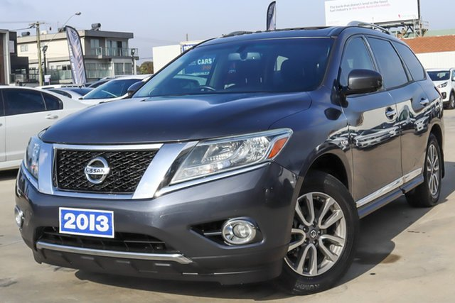 Used Nissan Pathfinder R52 MY14 ST-L X-tronic 4WD Coburg North, 2013 Nissan Pathfinder R52 MY14 ST-L X-tronic 4WD Grey 1 Speed Constant Variable Wagon