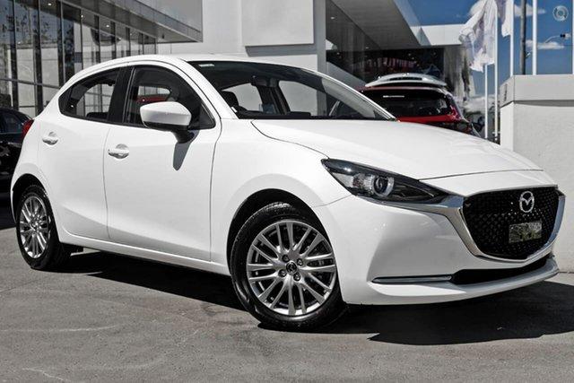 New Mazda 2 DJ2HAA G15 SKYACTIV-Drive Evolve Waitara, 2021 Mazda 2 DJ2HAA G15 SKYACTIV-Drive Evolve White 6 Speed Sports Automatic Hatchback