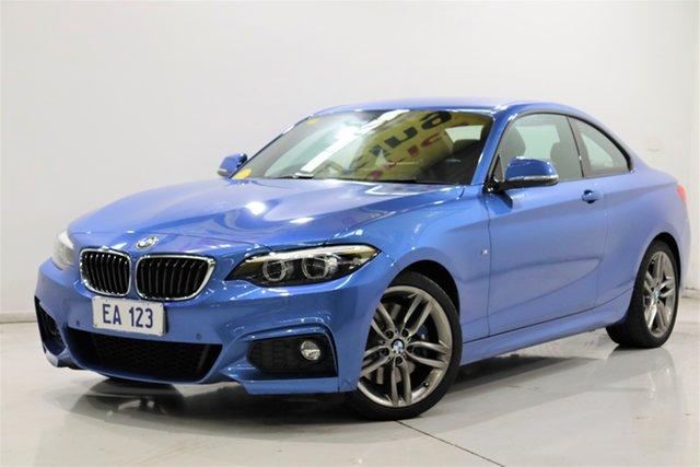 Used BMW 2 Series F22 LCI 230i M Sport Brooklyn, 2018 BMW 2 Series F22 LCI 230i M Sport Blue 8 Speed Sports Automatic Coupe