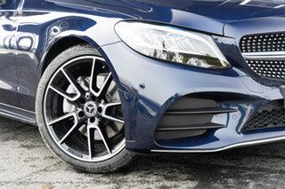 2021 Mercedes-Benz C-Class W205 801MY C300 9G-Tronic Cavansite Blue 9 Speed Sports Automatic Sedan.