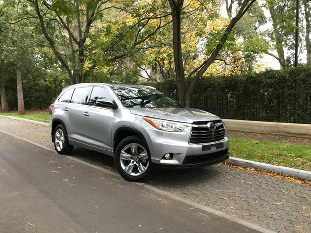 Pre-Owned Toyota Kluger GSU50R Grande 2WD Hawthorn, 2017 Toyota Kluger GSU50R Grande 2WD Silver 8 Speed Sports Automatic Wagon