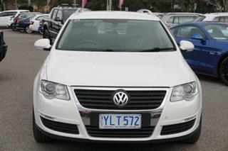 2006 Volkswagen Passat Type 3C TDI DSG Candy White 6 Speed Sports Automatic Dual Clutch Wagon.