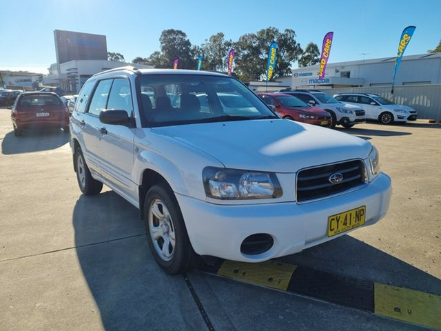 Used Subaru Forester 79V MY04 X AWD Glendale, 2004 Subaru Forester 79V MY04 X AWD White 5 Speed Manual Wagon