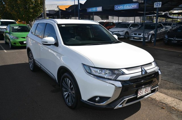 Used Mitsubishi Outlander ZL MY18.5 LS 7 Seat (2WD) Toowoomba, 2018 Mitsubishi Outlander ZL MY18.5 LS 7 Seat (2WD) White Continuous Variable Wagon