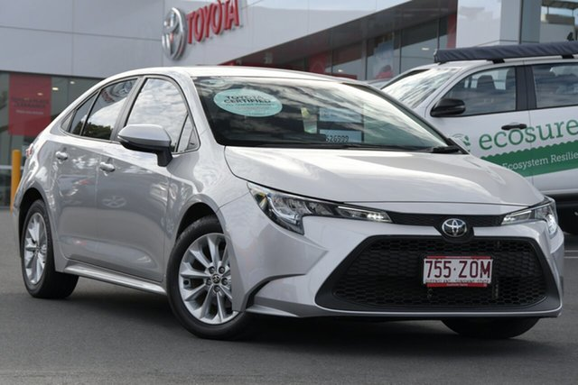 Pre-Owned Toyota Corolla Mzea12R Ascent Sport Woolloongabba, 2020 Toyota Corolla Mzea12R Ascent Sport Silver 10 Speed Constant Variable Sedan