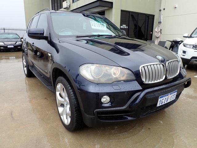 Used BMW X5 E70 4.8I Wangara, 2007 BMW X5 E70 4.8I Blue 6 Speed Auto Steptronic Wagon