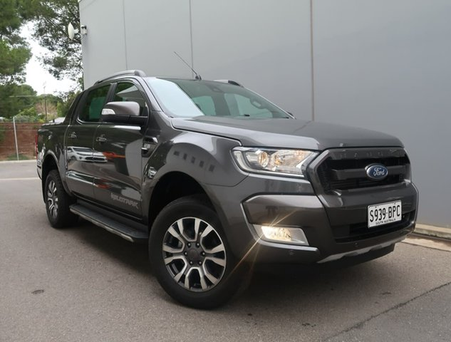 Used Ford Ranger PX MkII Wildtrak Double Cab Reynella, 2017 Ford Ranger PX MkII Wildtrak Double Cab Grey 6 Speed Sports Automatic Utility