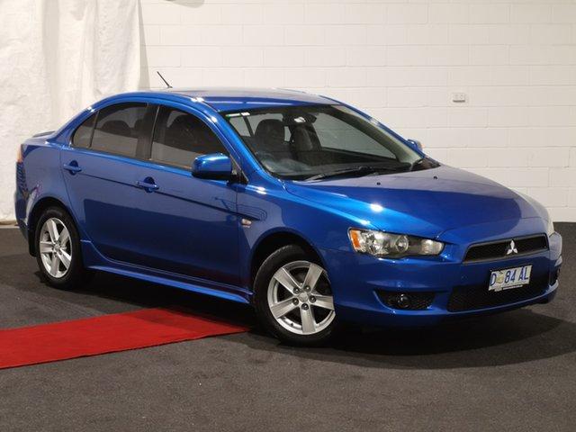 Used Mitsubishi Lancer CJ MY08 VR Glenorchy, 2007 Mitsubishi Lancer CJ MY08 VR Blue 5 Speed Manual Sedan
