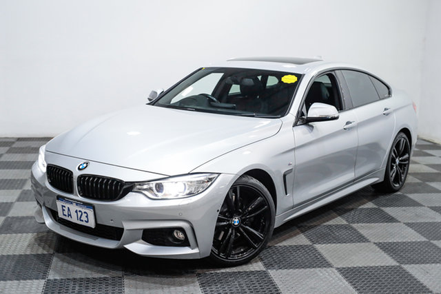 Used BMW 4 Series F36 428i Gran Coupe M Sport Edgewater, 2015 BMW 4 Series F36 428i Gran Coupe M Sport Silver 8 Speed Sports Automatic Hatchback
