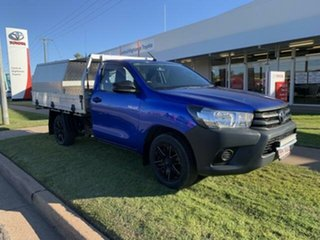 2015 Toyota Hilux GUN122R Workmate Blue 5 Speed Manual Cab Chassis.
