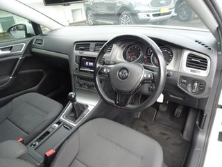 2014 Volkswagen Golf VII MY15 90TSI Comfortline Pure White 6 Speed Manual Hatchback