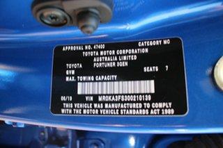 2019 Toyota Fortuner GUN156R GXL Nebula Blue 6 Speed Automatic Wagon