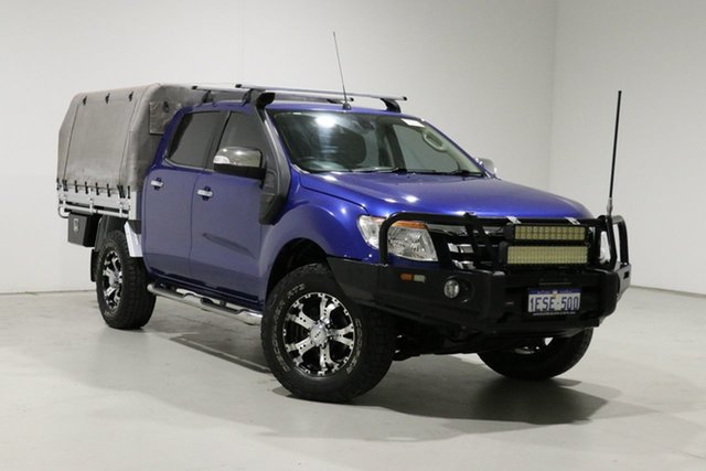 Used Ford Ranger PX XLT 3.2 (4x4) Bentley, 2014 Ford Ranger PX XLT 3.2 (4x4) Blue 6 Speed Automatic Double Cab Pick Up