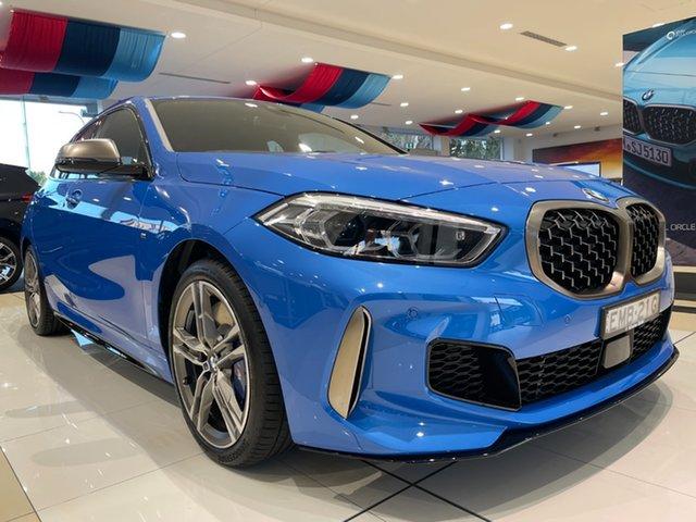 Demo BMW 1 Series F40 M135i Steptronic xDrive Newcastle West, 2020 BMW 1 Series F40 M135i Steptronic xDrive Misano Blue Metallic 8 Speed Sports Automatic