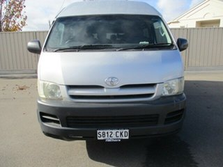 2005 Toyota HiAce KDH222R Commuter High Roof Super LWB Silver 5 Speed Manual Bus.