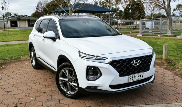 Used Hyundai Santa Fe TM MY19 Highlander Ingle Farm, 2018 Hyundai Santa Fe TM MY19 Highlander White 8 Speed Sports Automatic Wagon